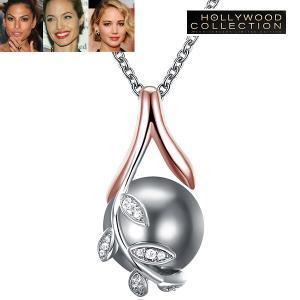 パール ネックレス 一粒 南洋 黒真珠 グレー 大粒 12mm シェルパール ハリウッド セレブ コレクション|celeb-cz-jewelry