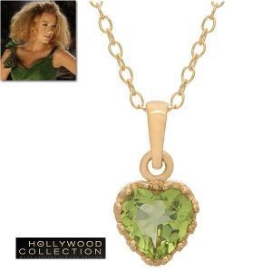 ネックレス ハート 天然 ペリドット ティアラ 18金 ネックレス 8月誕生石 ブレイク ライブリー コレクション|celeb-cz-jewelry