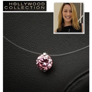 一粒 ピンクダイヤモンド イリュージョン ネックレス ハリウッド セレブ コレクション|celeb-cz-jewelry