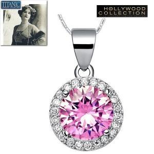 ネックレス ピンク ダイヤモンド パヴェ レトロ アールデコ タイタニック ジュエリー コレクション celeb-cz-jewelry