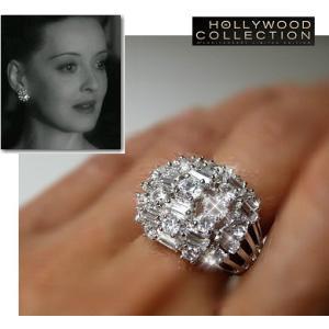リング ダイヤモンド モザイク カクテルリング「情熱の航路」ベティ デイヴィス コレクション|celeb-cz-jewelry