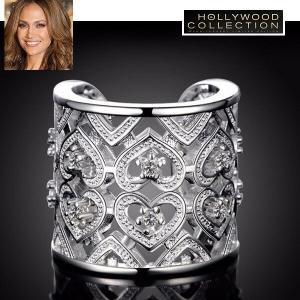 リング シルキー レース フリーサイズ カクテルリング ジェニファー ロペス コレクション|celeb-cz-jewelry