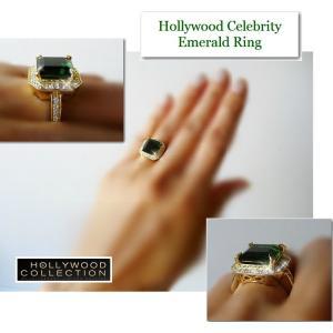 リング エメラルド グリーン 18金 ゴールド ヴィクトリア ベッカム コレクション バニティフェア 雑誌掲載|celeb-cz-jewelry|04