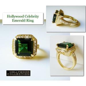 リング エメラルド グリーン 18金 ゴールド ヴィクトリア ベッカム コレクション バニティフェア 雑誌掲載|celeb-cz-jewelry|05
