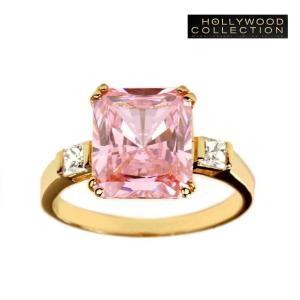 ピンク リング ラディアントカット ピンクダイヤモンド ジンジャー ロジャース コレクション|celeb-cz-jewelry