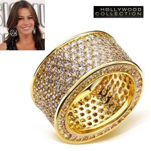 リング ダイヤモンド パヴェ 18金 ゴールド カクテルリング ソフィア ベルガラ コレクション|celeb-cz-jewelry