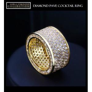 リング ダイヤモンド パヴェ 18金 ゴールド カクテルリング ソフィア ベルガラ コレクション|celeb-cz-jewelry|03