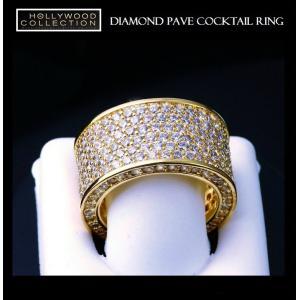 リング ダイヤモンド パヴェ 18金 ゴールド カクテルリング ソフィア ベルガラ コレクション|celeb-cz-jewelry|04
