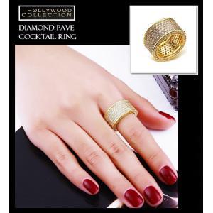 リング ダイヤモンド パヴェ 18金 ゴールド カクテルリング ソフィア ベルガラ コレクション|celeb-cz-jewelry|05