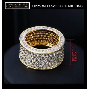 リング ダイヤモンド パヴェ 18金 ゴールド カクテルリング ソフィア ベルガラ コレクション|celeb-cz-jewelry|06