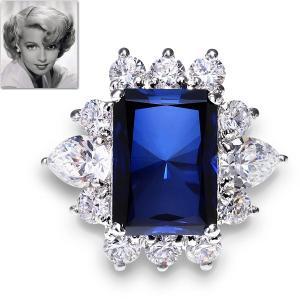 リング サファイア ブルー フラワー 花 パーティ カクテルリング ラナ ターナー コレクション|celeb-cz-jewelry
