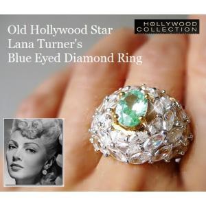 リング ダイヤモンド ブルーアイ カクテルリング「ペイトンプレイス」ラナ ターナー コレクション|celeb-cz-jewelry