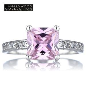 リング ピンクダイヤモンド シンプル エレガンス ハリウッドセレブ コレクション|celeb-cz-jewelry