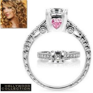 リング ハート ピンクダイヤモンド LOVE 愛 メッセージリング テイラースウィフト コレクション|celeb-cz-jewelry