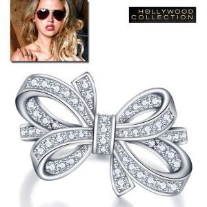 リボン リング パヴェ ダイヤモンド エステラ ウォーレン コレクション|celeb-cz-jewelry