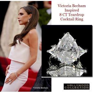 リング ダイヤモンド ティアドロップ カクテルリング 8キャラット ヴィクトリア ベッカム コレクション|celeb-cz-jewelry|02