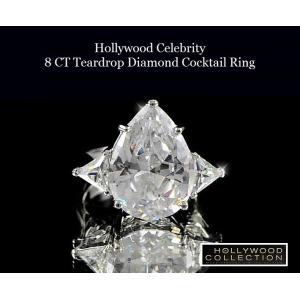 リング ダイヤモンド ティアドロップ カクテルリング 8キャラット ヴィクトリア ベッカム コレクション|celeb-cz-jewelry|03