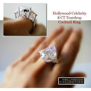 リング ダイヤモンド ティアドロップ カクテルリング 8キャラット ヴィクトリア ベッカム コレクション|celeb-cz-jewelry|04