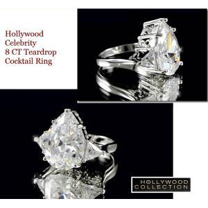 リング ダイヤモンド ティアドロップ カクテルリング 8キャラット ヴィクトリア ベッカム コレクション|celeb-cz-jewelry|05