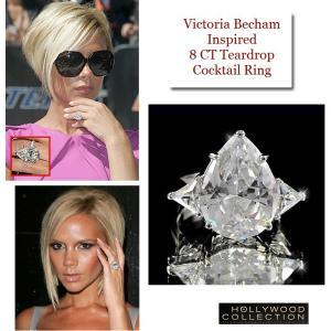 リング ダイヤモンド ティアドロップ カクテルリング 8キャラット ヴィクトリア ベッカム コレクション|celeb-cz-jewelry|06