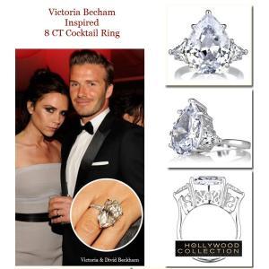 リング ダイヤモンド ティアドロップ カクテルリング 8キャラット ヴィクトリア ベッカム コレクション|celeb-cz-jewelry|08