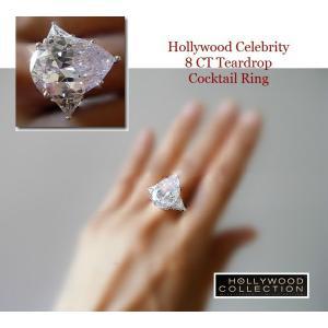 リング ダイヤモンド ティアドロップ カクテルリング 8キャラット ヴィクトリア ベッカム コレクション|celeb-cz-jewelry|09