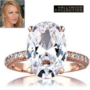 リング ダイヤモンド ピンクゴールド ヴィンテージ セレブ 結婚指輪 ブレイク ライブリー コレクション|celeb-cz-jewelry