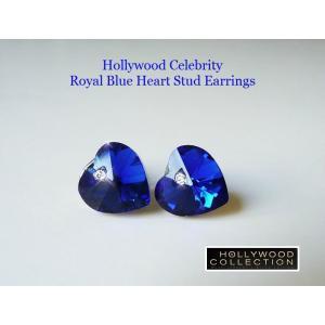 ピアス ロイヤル ブルー ハート ピアス|ダイヤモンド アクセント|ハリウッド セレブ コレクション |celeb-cz-jewelry|02