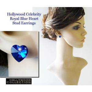 ピアス ロイヤル ブルー ハート ピアス|ダイヤモンド アクセント|ハリウッド セレブ コレクション |celeb-cz-jewelry|03