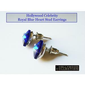 ピアス ロイヤル ブルー ハート ピアス|ダイヤモンド アクセント|ハリウッド セレブ コレクション |celeb-cz-jewelry|04