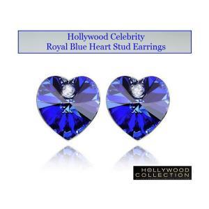 ピアス ロイヤル ブルー ハート ピアス|ダイヤモンド アクセント|ハリウッド セレブ コレクション |celeb-cz-jewelry|05
