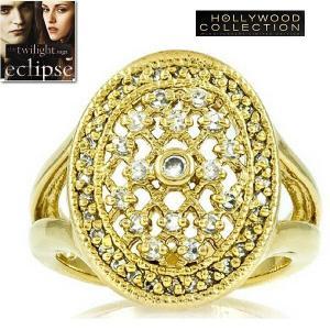 リング ダイヤモンド ゴールド 婚約指輪 ベラのエンゲージリング 映画「トワイライト・エクリプス」より|celeb-cz-jewelry