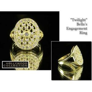 リング ダイヤモンド ゴールド 婚約指輪 ベラのエンゲージリング 映画「トワイライト・エクリプス」より|celeb-cz-jewelry|04