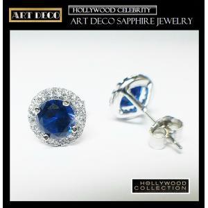 ピアス サファイア ブルー パヴェ レトロ アールデコ ケイティ ホームズ コレクション celeb-cz-jewelry 06