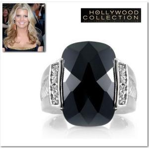 リング ブラックダイヤモンド 11キャラット ジェシカ シンプソン コレクション celeb-cz-jewelry
