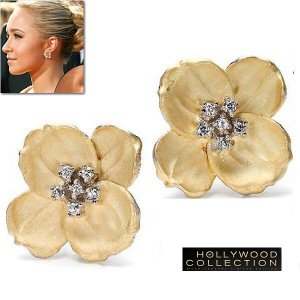 ピアス フラワー 花 ゴールド ヘイデン パネッティーア コレクション|celeb-cz-jewelry