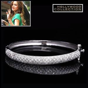 バングル ブレスレット ダイヤモンド パヴェ ミランダ カー コレクション|celeb-cz-jewelry
