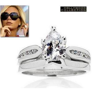 リング ダイヤモンド ティアドロップ セットリング ヴィクトリア ベッカム コレクション|celeb-cz-jewelry