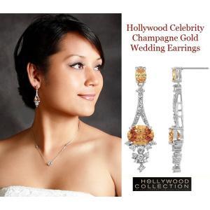 ピアス ダイヤモンド シャンパンダイヤモンド ブライダル 揺れるピアス テイラー スイフト コレクション|celeb-cz-jewelry|03