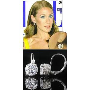 ピアス ダイヤモンド アンティークレース 揺れる ピアス|サラ ジェシカ パーカー コレクション|celeb-cz-jewelry