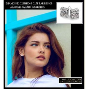 ピアス ダイヤモンド クッションカット ピアス|ヴィクトリア ベッカム アカデミー賞 コレクション|celeb-cz-jewelry|05