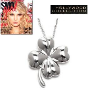 ネックレス 四つ葉 クローバー 幸運 テイラー スウィフト 「コスモガール」誌掲載|celeb-cz-jewelry