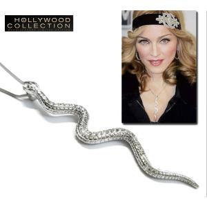 ネックレス 蛇 へび スネーク シルバー マドンナ コレクション USA「OK!」誌掲載 celeb-cz-jewelry