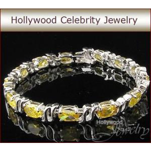 ブレスレット イエローダイヤモンド テニスブレスレット ハリウッド セレブ コレクション  |celeb-cz-jewelry