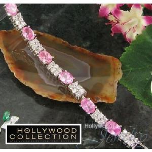 ブレスレット ピンクダイヤモンド テニスブレスレット ハリウッド セレブ コレクション|celeb-cz-jewelry