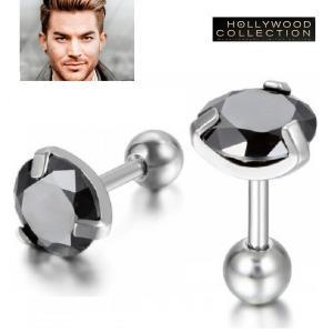 メンズ ピアス 片耳 黒ダイヤ ブラックダイヤモンド スタッド アダム ランバート コレクション|celeb-cz-jewelry