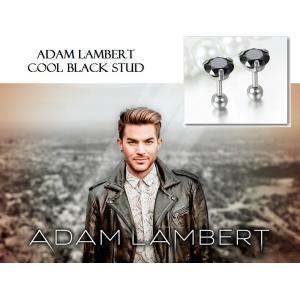 メンズ ピアス 片耳 黒ダイヤ ブラックダイヤモンド スタッド アダム ランバート コレクション|celeb-cz-jewelry|02