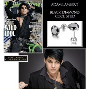 メンズ ピアス 片耳 黒ダイヤ ブラックダイヤモンド スタッド アダム ランバート コレクション|celeb-cz-jewelry|06