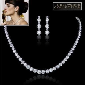 ネックレス セット ダイヤモンド ブライダル テニスネックレス ペネロペ クルス コレクション|celeb-cz-jewelry