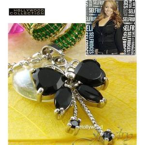 ネックレス 蝶々 ブラックダイヤモンド バタフライ マライア キャリー コレクション|celeb-cz-jewelry